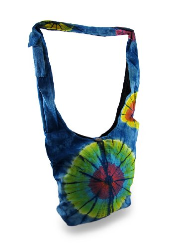 Bursts Tie Bag W Sling Dye Cotton Body Pocket Cotton Womens Cell Cross Blue Colorful Phone Bags x8wfFqpUq
