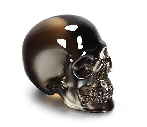 Skullis Smokey Quartz Rock Crystal Carved Crystal Skull, Hand Carved Gemstone Fine Art ()
