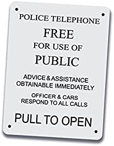 dr who tv Funny American Vinyl Vintage Police Telephone Call Box Sticker