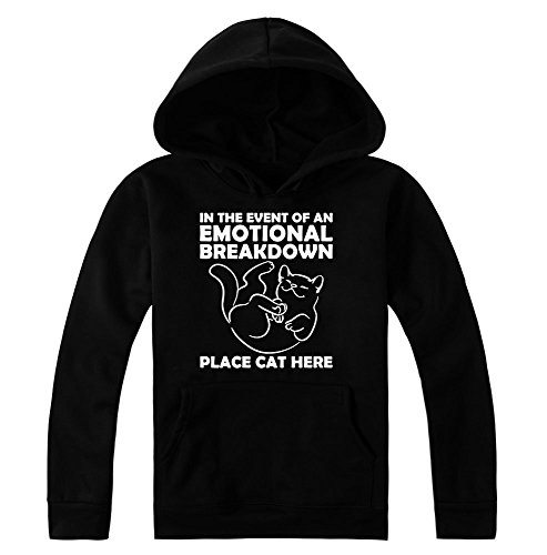 In The Event Of Emotional Breakdown Place Cat Here Women's Hoodie Pullover