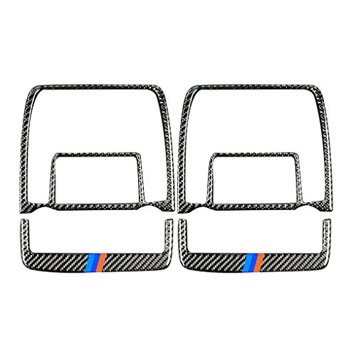 - Xuanhemen 2pcs/Set Carbon Fiber Reading Light Cover Trim Car Interior Decor Decal for BMW X5 X6 E70 E71 2008-2013