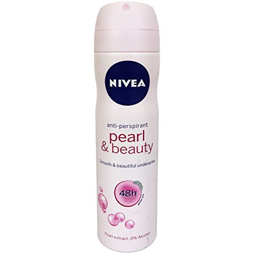Nivea Pearl & Beauty Anti-Perspirant Spray Deodorant for Women, 150 ml (Pack of 8) + Our Travel Size Perfume