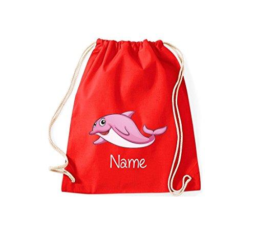 Shirtstown - Bolso de tela de algodón para mujer rojo