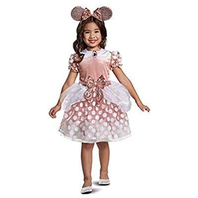Disney Rose Gold Minnie Classic Toddler Girls' Costume: Toys & Games