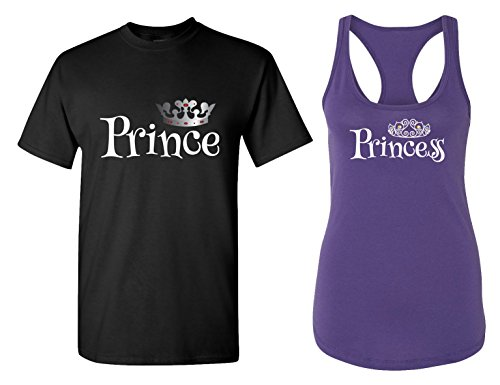Prince & Princess Matching Couple T Shirts -