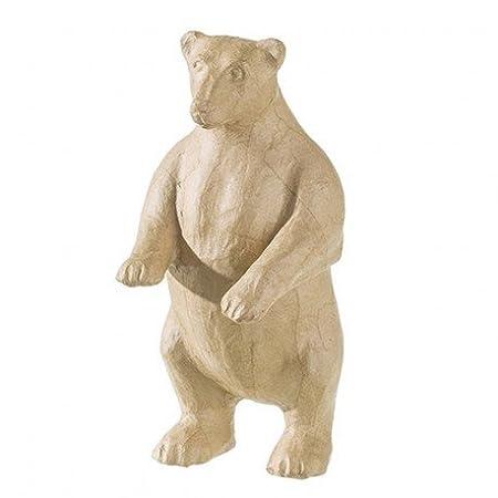 Paper Mache Standing Polar Bear