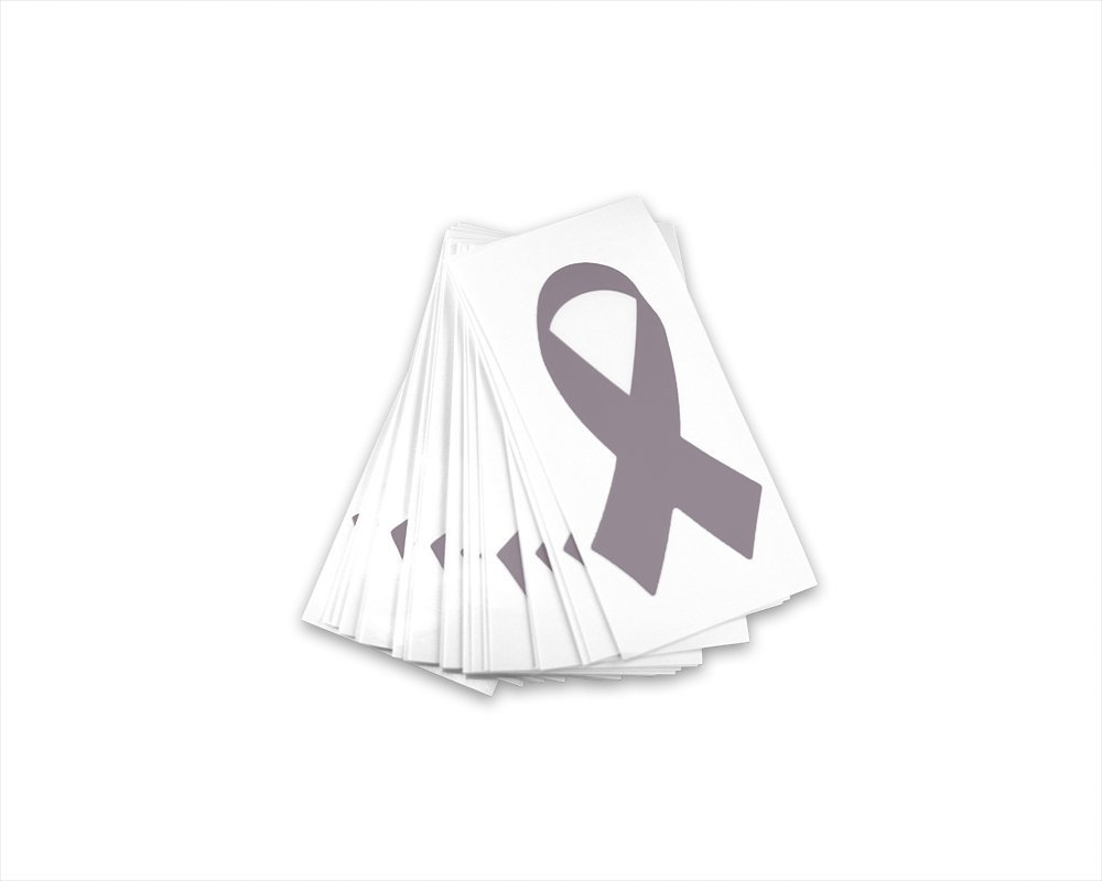 Amazon com diabetes asthma parkinsons disease brain cancer awareness gray ribbon decals 25 pack home kitchen