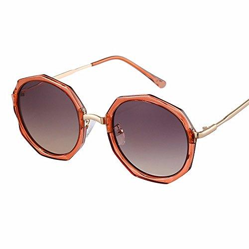 fina marrón alto Gafas de cara sol brillo de Brown mujer gafas personalizado redonda XIAOGEGE de vídeo elegante Gafas de TBqCIp