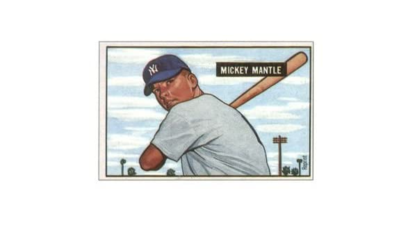 Amazoncom Mickey Mantle 1951 Bowman Reprint Baseball Card