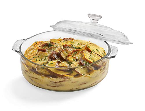 s Glass Casserole Baking Dish with Cover, 2-quart ()