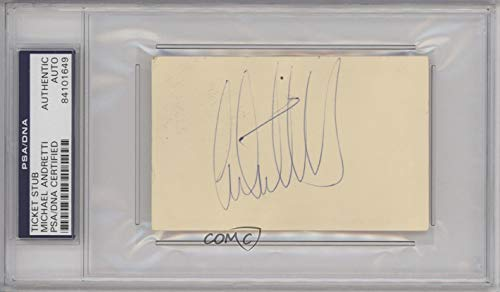 Michael Andretti Aftermarket Auto PSA/DNA Certified Encased (Trading Card) 1900-Present Authenticated Autographed Ticket Stubs and Passes - [Base] #MIAN