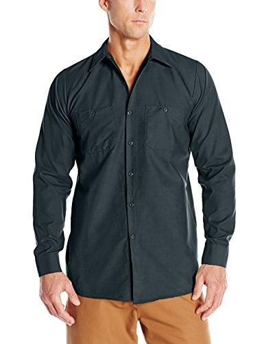 Adult Fashion Polo (Red Kap Men's Long-Sleeve Stripe Work Shirt, Spruce Green, Long 2X-Large)