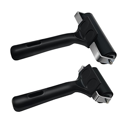 (MyLifeUNIT Soft Rubber Brayer Roller for Printmaking Wallpaper, Pack of 2)