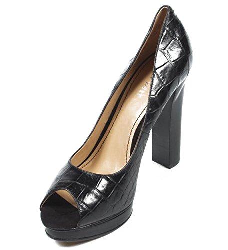 NINE WEST - Zapatos De Tacón Mujer - Pump Punta Abierta NWSWEETFOOT BLACK Tacón: 12.5 cm