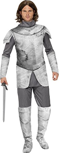 [Smiffy's Men's Medieval Knight Deluxe Costume, Multi, Medium] (Medieval Mens Costumes)
