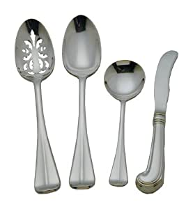 Colonial Williamsburg Royal Scroll Stainless Steel Flatware 4 Piece Hostess Set