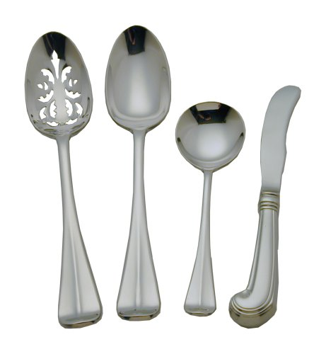 Colonial Williamsburg Royal Scroll Stainless Steel Flatware 4 Piece Hostess Set ()