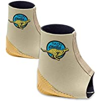 Tuli's Cheetah Heel Cup with Compression Ankle Support Sleeve, Foot Protection for Gymnasts and Dancers, Lightweight, Fitted Medium (Pair)
