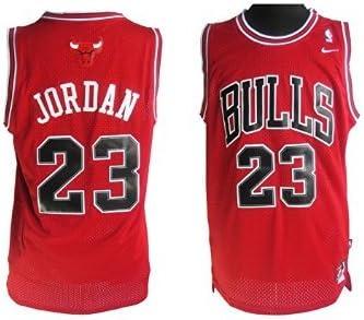 Amazon.com : Nike Michael Jordan Jersey/RED - Size Large : Sports ...