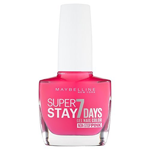 Maybelline SuperStay 7 Days Gel 195 Fuchsia Nail Polish 10ml by Maybelline