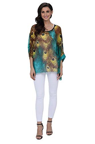 Shirt en Tops Mousseline pour Plus de Soie 6 Chemise Plage Porter Style T Femmes Size Boho dcontract lache 4300 Style Couleurs OKSakady Les q6F0t6