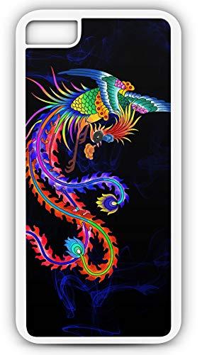 iPhone 7 Plus 7+ Case Shenniao Bird Traditional Phoenix Legend Customizable by TYD Designs in White Plastic Black Rubber Tough Case (Best Hamburger In Phoenix)