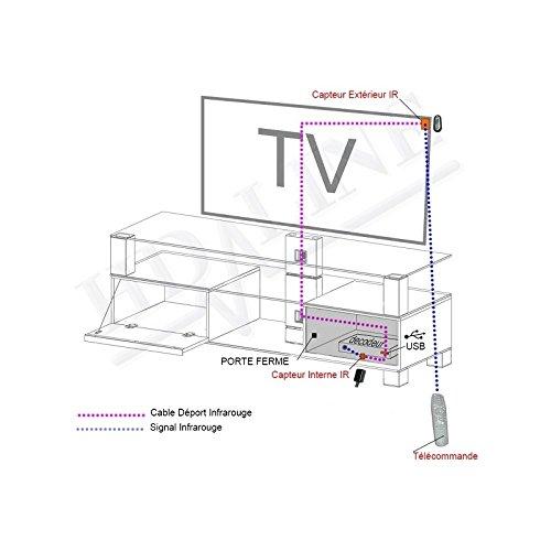 incluye receptor y transmisor de infrarrojos, ideal para c/ámping Cable USB con sensor de se/ñal de infrarrojos de mando a distancia para decodificador o receptor