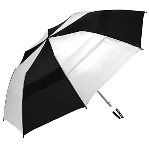 ShedRain 2010-BlackWhite WINDJAMMER Vented Auto Open Jumbo Compact Golf Umbrella,