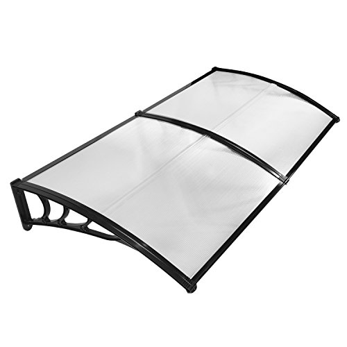 JOO Life 80″x 40″ Door Window Awnings Outdoor Shade Polycarbonate UV Rain Snow Prote ...