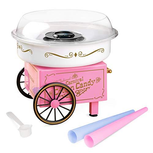 Nostalgia PCM305 Vintage Hard & Sugar-Free Cotton Candy Maker, Main, Pink (Renewed)
