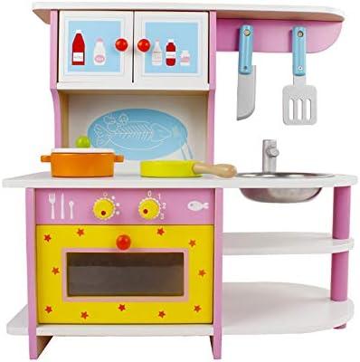 Amazon.com: SXPC Wooden Kitchen Set Stove Toy Pretend ...