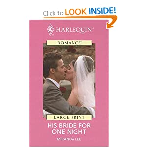 Harlequin Romance I - Large Print - Bought: One Bride Miranda Lee