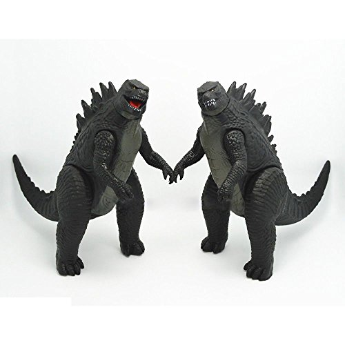 NEW Set of 2pcs New 2014 Movie Godzilla Monster Action Figures Toys 17cm 6.5'' Gift
