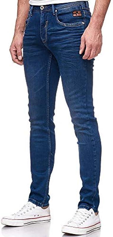 Rusty Neal Basic 5 Pocket Business Jeans Stretch Slim Fit ciemnoniebieski granatowy granatowy Dark 090: Odzież