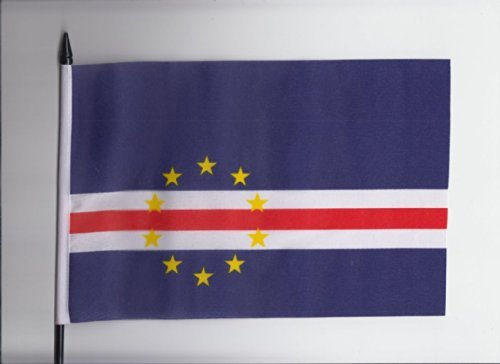 Cape Verde Islands Medium Hand Held Flag 23cm x (Cape Verde Islands Flag)