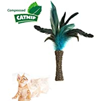 Gigwi Cat Interactive Toy Feather Electronic Tripod (White)