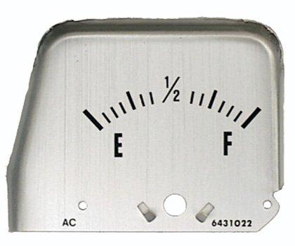 68-69 Camaro Console Gauge Silver Fuel Face
