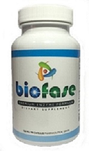 Biofase Premium Enzyme Formula - Non-Toxic Broad Spectrum - Fights Candida Yeast and Helps Remove Harmful Biofilms - 180 Capsules