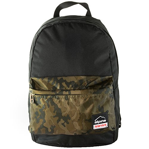 Alpine Swiss Midterm Backpack School Bag Bookbag 1 Yr Warranty Black - Alpine Stores