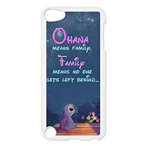 Wholesale hiqh quality Lilo & Stitch,quotes Ohana means family series hard pattern case cover FOR Ipod Touch 5 TB-stitch-8I53130