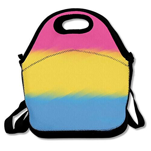 - Eco-Friendly Neoprene Lunch Bag - Pansexuality Flag - Large Insulated Lunch Sack, Soft Cooler/Hot Bag for School/Beach/Picnic/Camping/BBQ