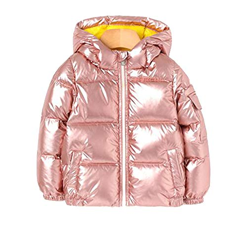 - Ozkiz Wimpi Padding Unisex Little Girls and Boys 56% Duck Down Warm and Shiny Pink Waterproof Winter Jacket with Two Tone Colors