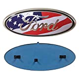 "Automotive : Carstore Ford Front Tailgate Emblem, Oval 9""X3.5"", American Flag Decal Badge Nameplate for 04-14 F150 F250 F350, 11-14 Edge, 11-16 Explorer, 06-11 Ranger"