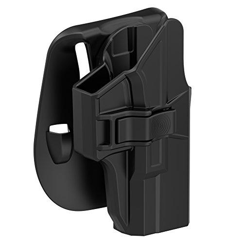 TEGE Glock 19 19X 23 32 45 Paddle Holster(Gen 1-5), Tactical Outside Waistband Open Carry Holster Custom-Molded Fit G19 G19X G23 G32(Gen 1 2 3 4 5), RH