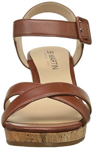Jb Martin Querida E17, Sandalias con Plataforma Para Mujer Marron (M Gla Brandy/T liege Me Bronze)