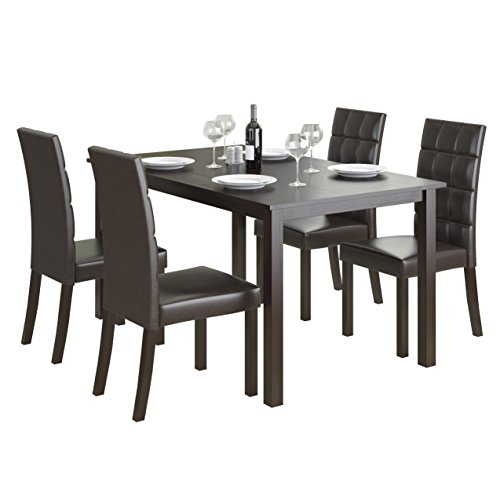 CorLiving 5 Piece DRG-795-Z4 Atwood Dining Set with Leathere