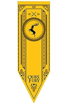 GOT Tournament Banner of House Stark/Lannister/Targaryen,19x60 in, Fans' Collectible Home Decoration
