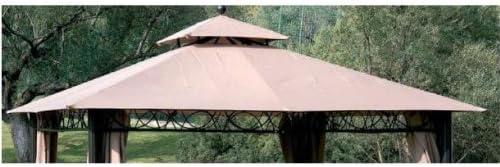 Recambio de tela para cenador de 3 x 3 metros, crudo, con ventilación de aire - Modelo Eden: Amazon.es: Jardín
