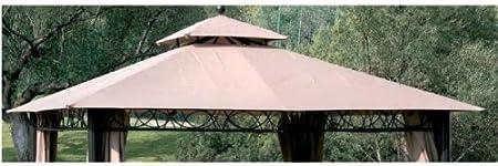 Recambio de tela para cenador de 3 x 3 metros, crudo, con ventilación de aire - Modelo Eden