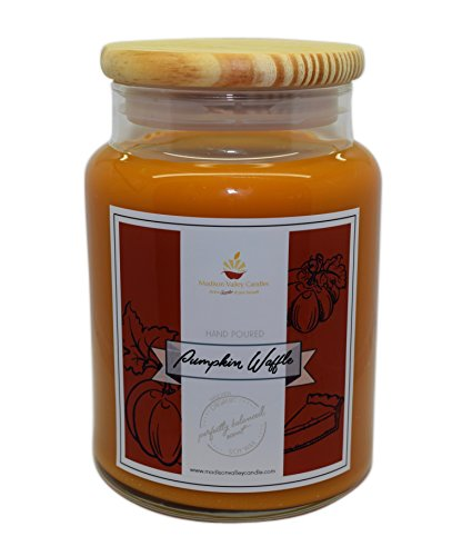 Madison Valley Soy Candle Company Strong Scented Pumpkin Pecan Waffle Soy Candle 26oz